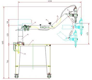 数控镗铣床结构简图
